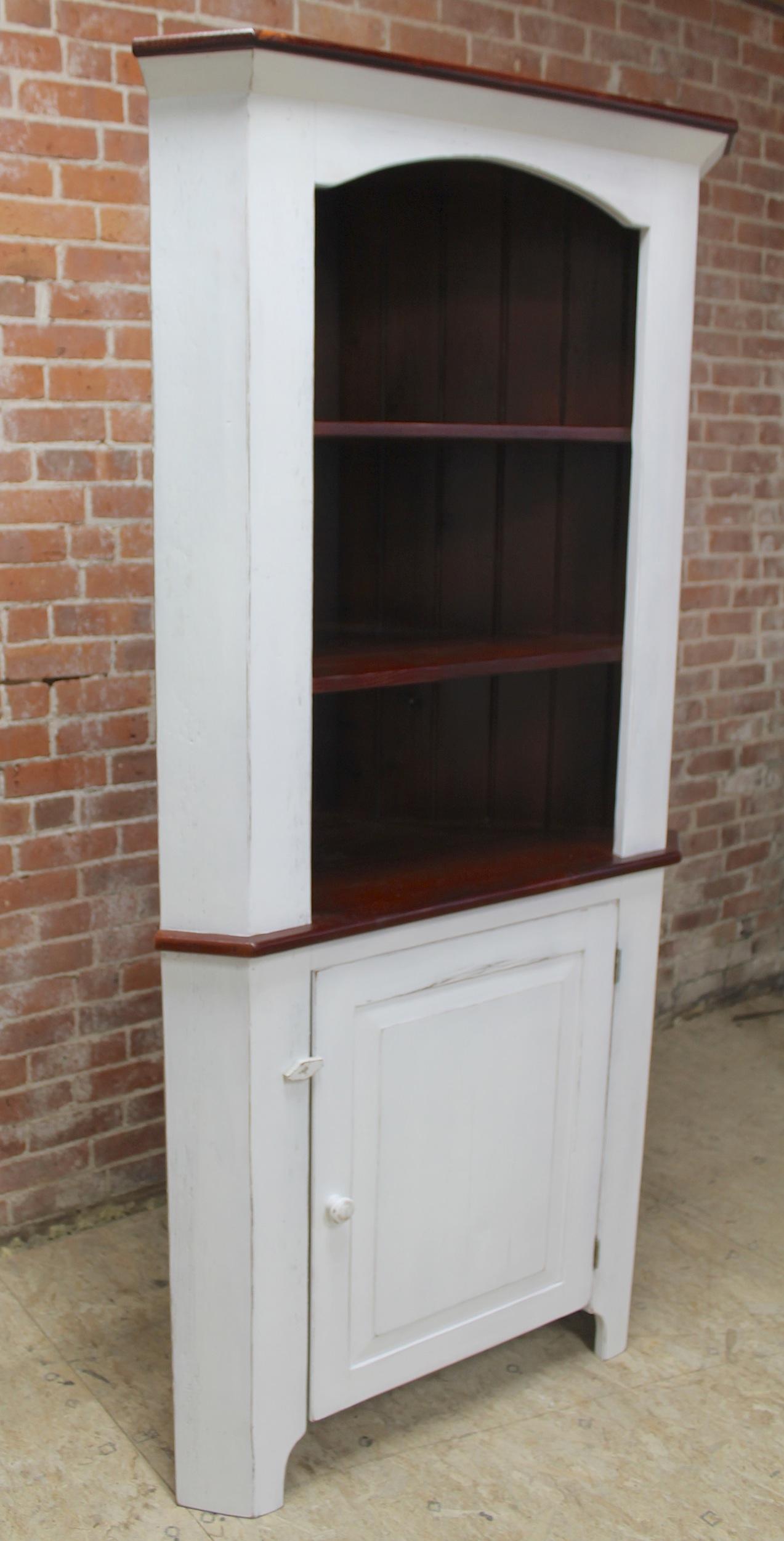Open Top Corner Cabinet Ecustomfinishes