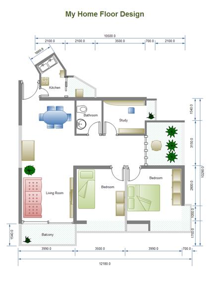 Kitchen Templates Floor Plans