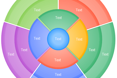 Easy Graphic Organizer   Edraw Step List  Radial Cycle  Target Diagram