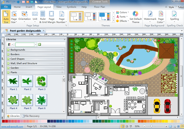 Landscape design programs for mac for Floor plan drawing software