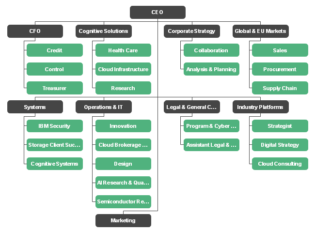 Structure Ibm Corporate