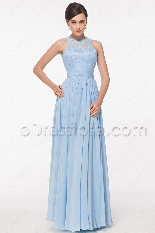 Bridesmaid Dress Light Blue
