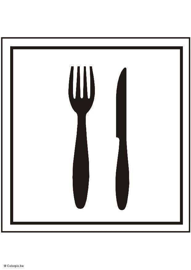 Restaurante Para Colorear