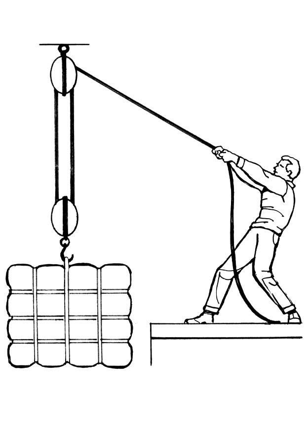Simple Pulley Lift System Tractor