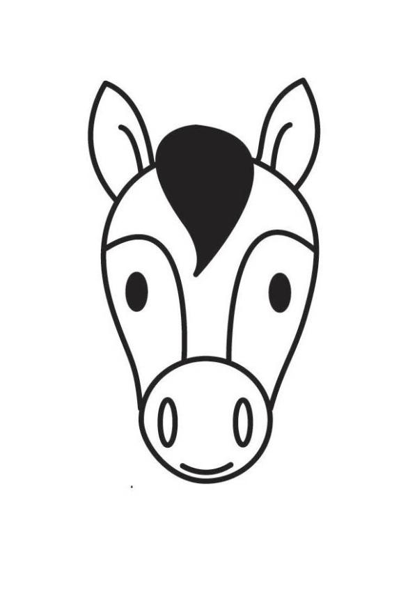 horse head coloring page # 10