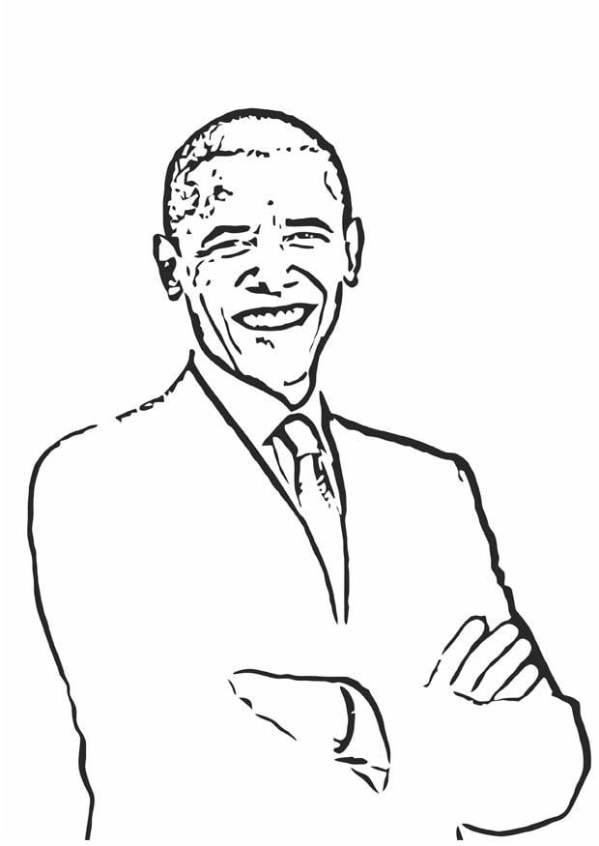 barack obama coloring page # 70