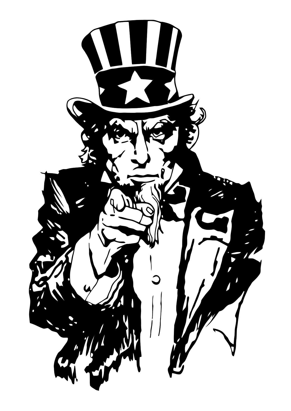 Coloring Page Uncle Sam Img 11363