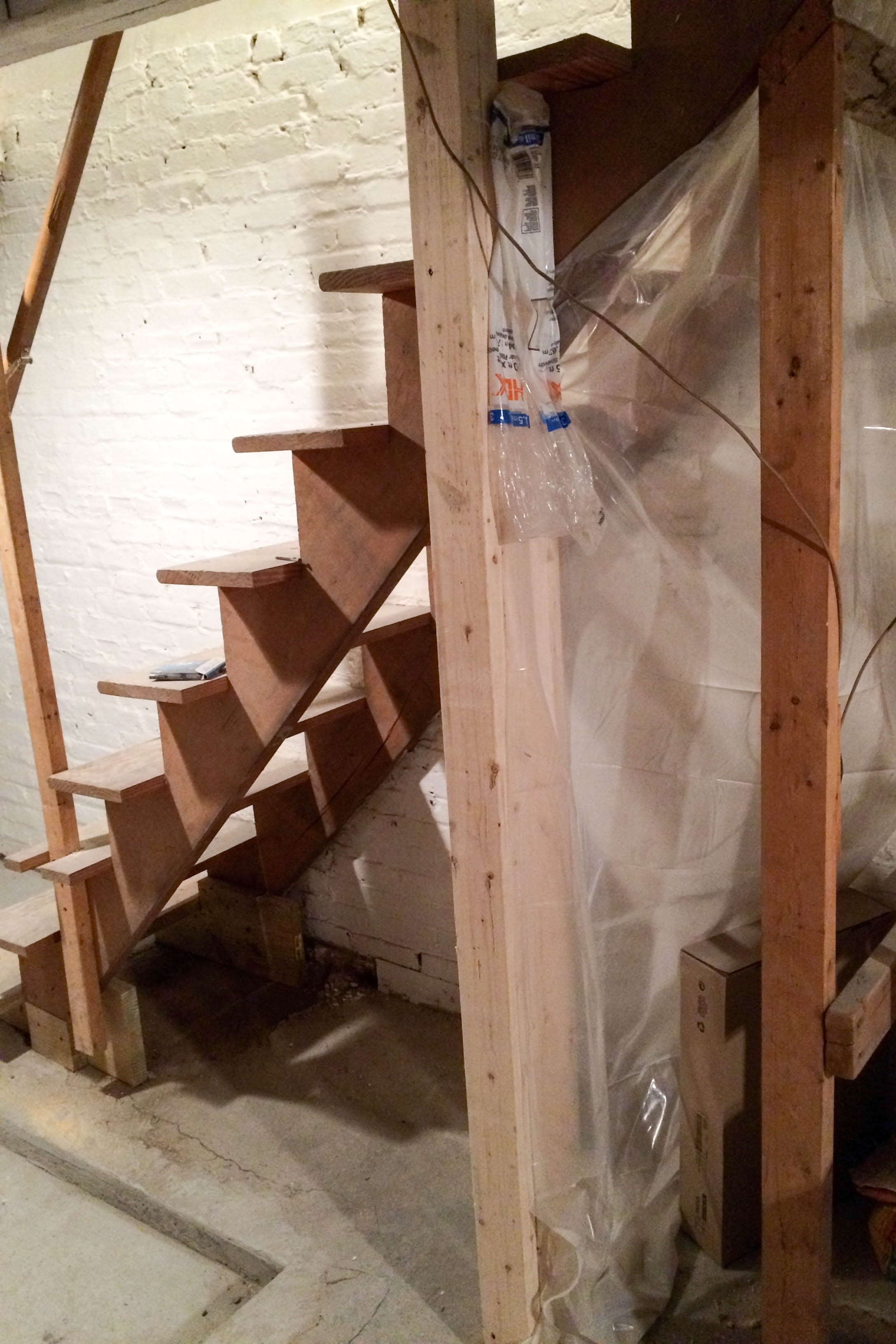 Diy Painted Upgraded Basement Stairs An Affordable Option | Cost To Replace Basement Stairs | Hardwood | Stringer | Spiral Staircase | Stair Railing | Bulkhead