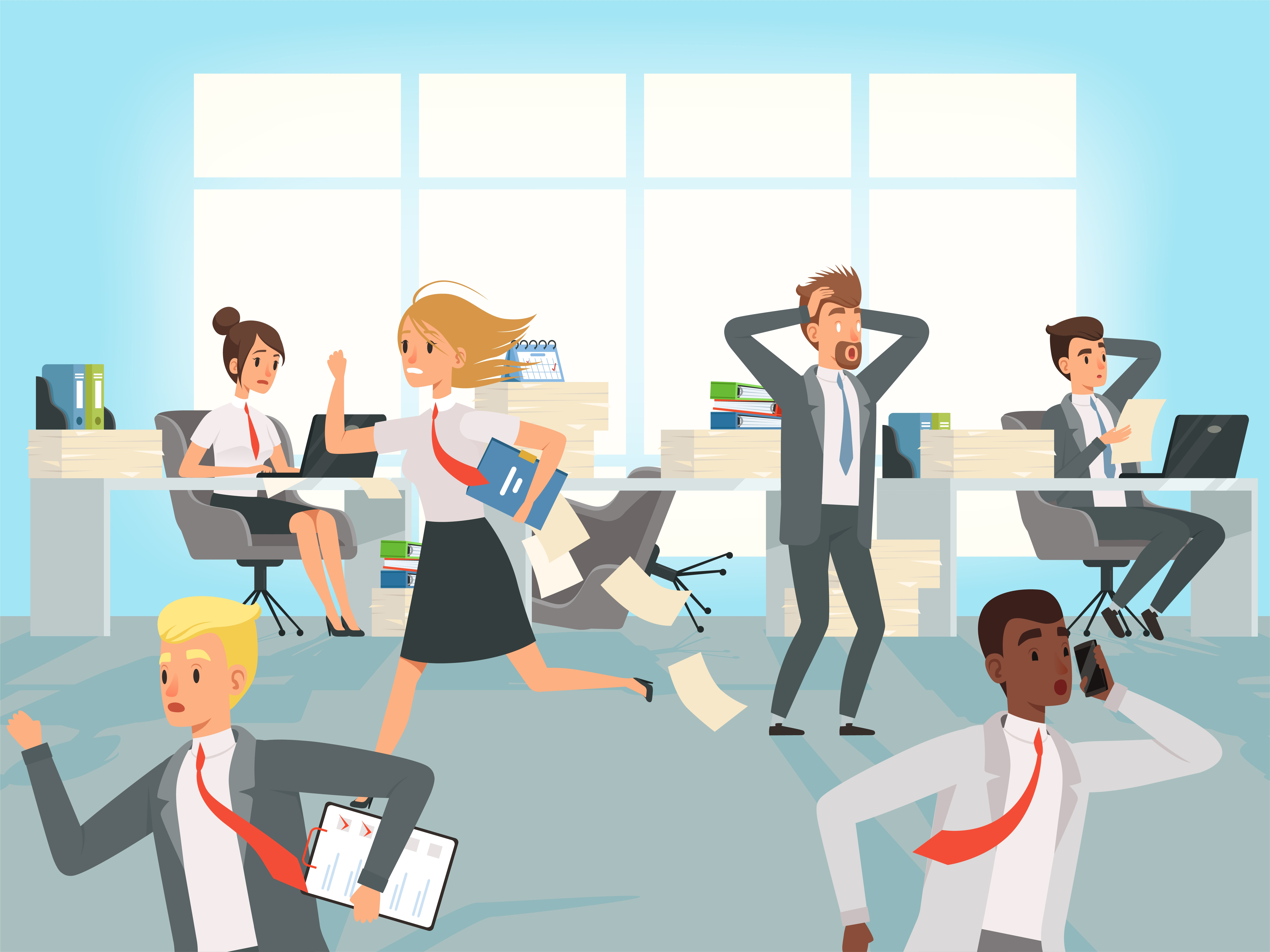 Office People Cartoon Picture Social Workers