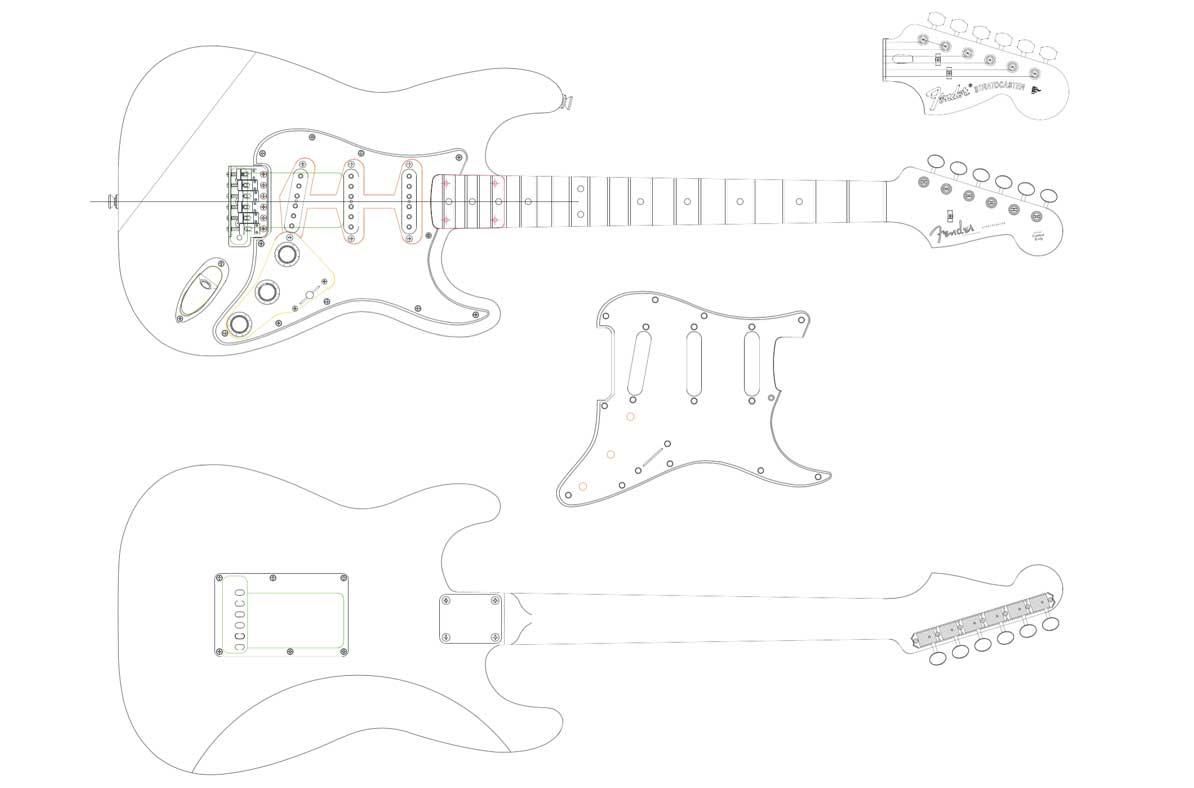 Stratocaster Neck Template