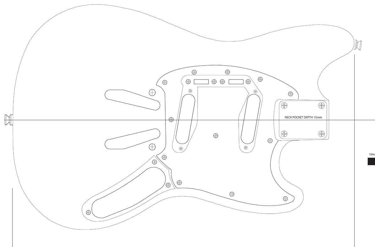 Best fender jazzmaster body template pictures >> jazzmaster