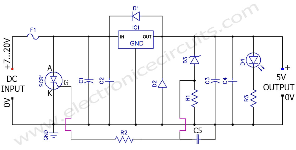 Diagram Regulated Power 6 Volts 12 Supply Schematic Ampere