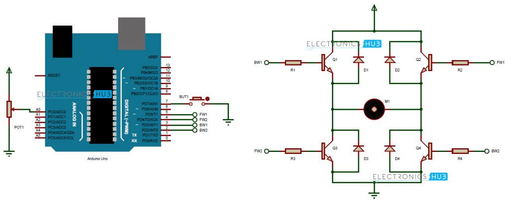 Transistor H Bridge Breadboard