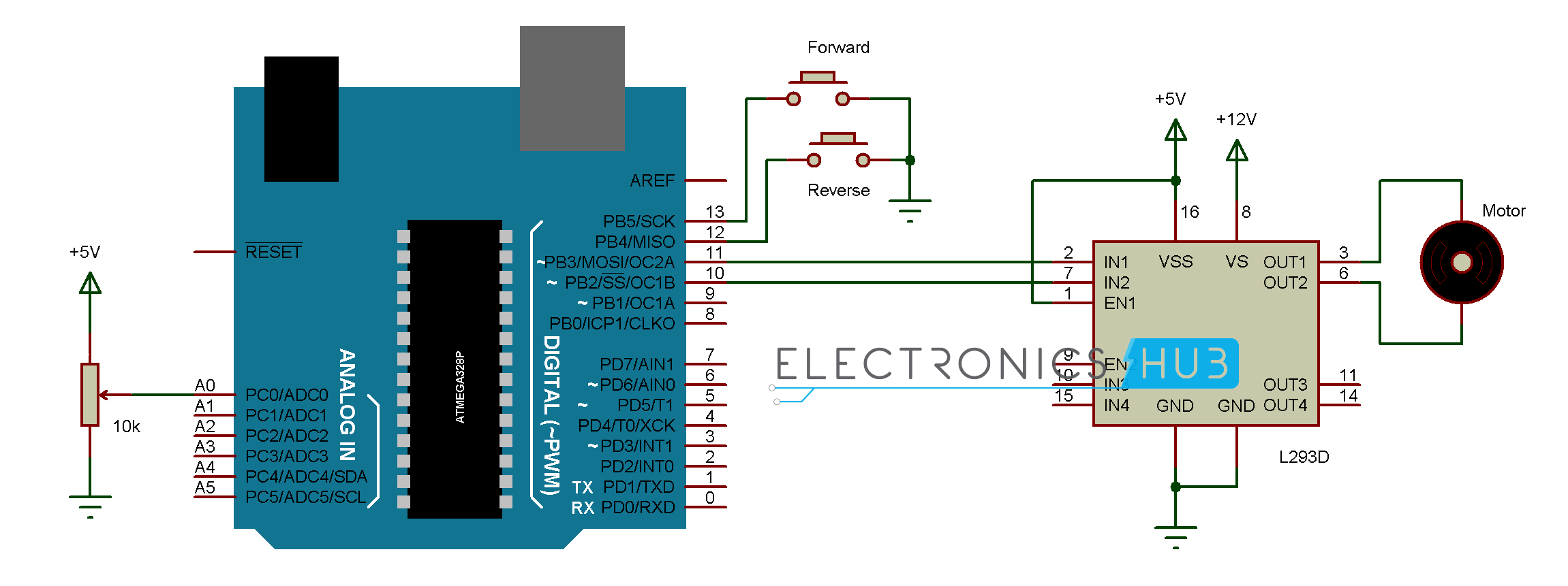 Switch To Potentiometer Wiring Diagram For A 10k Diagrams