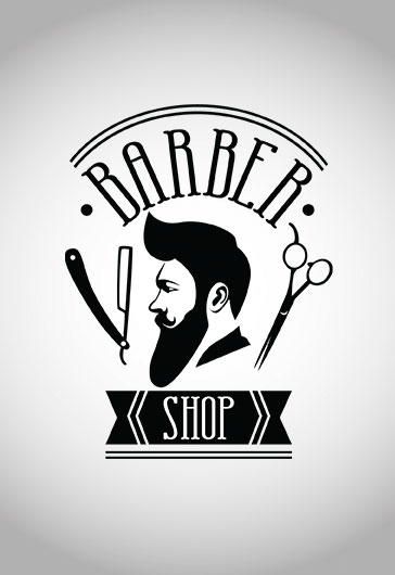 barber logo template - 364×530