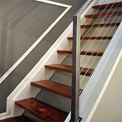 Elegant Iron Studios Custom Ornamental Metalwork Modern | Glass And Chrome Staircase | Fusion | Black Stained | Frameless | Timber Glass | Glass Paneled