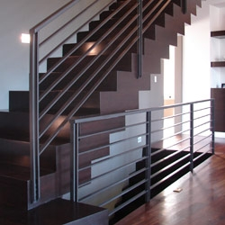 Elegant Iron Studios Custom Ornamental Metalwork Modern   Rod Iron Railing For Steps   Artistic   Aluminum   Front Porch   Custom   Corner