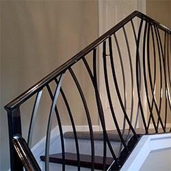 Elegant Iron Studios Custom Ornamental Metalwork Modern | Decorative Handrails For Stairs | Main Entrance | Solid Wood | Different Style | Elegant | Steel Pipe