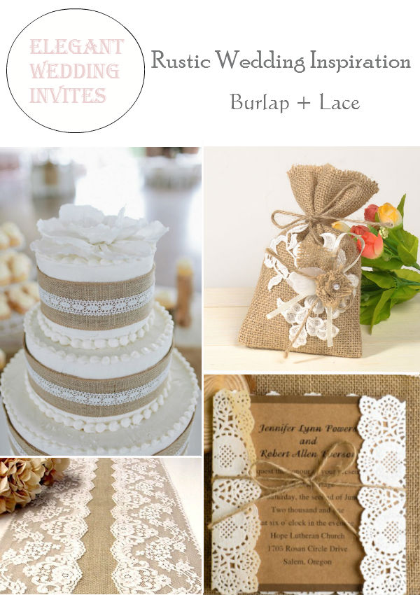 Rustic Burlap   Lace Wedding Decorations and Inspiration     Rustic Burlap   Lace Wedding Decorations and Inspiration