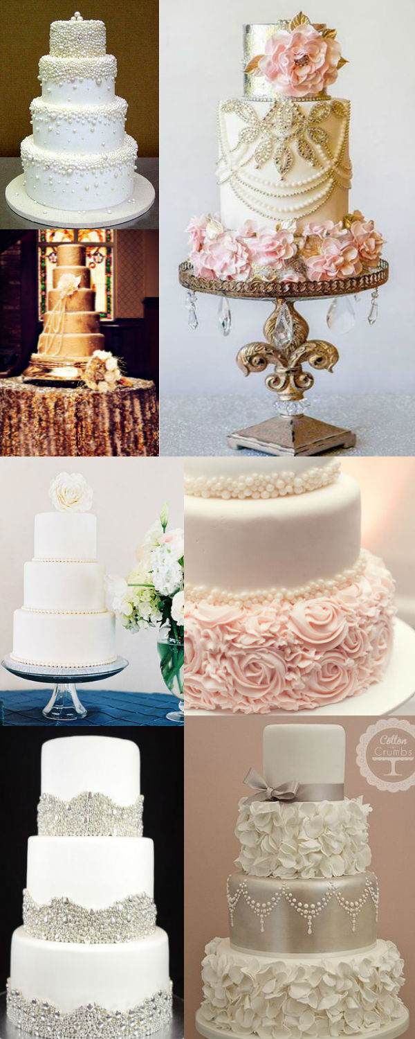 25 Fabulous Wedding Cake Ideas With Pearls     Elegantweddinginvites     great wedding cake ideas with pearl details