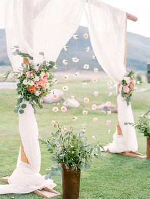 25 Chic and Easy Rustic Wedding Arch Ideas for DIY Brides     romantic floral spring wedding party arch ideas