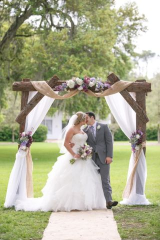 25 Chic and Easy Rustic Wedding Arch Ideas for DIY Brides     rustic wedding wooden and floral arbor ideas