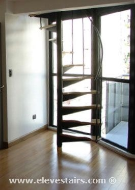 Half Spiral Stairs Space Saving Stairs Hillocks Garrets Attic | Semi Spiral Staircase Design | Curved Staircase | Residential Library | Interior | Futuristic | Iron
