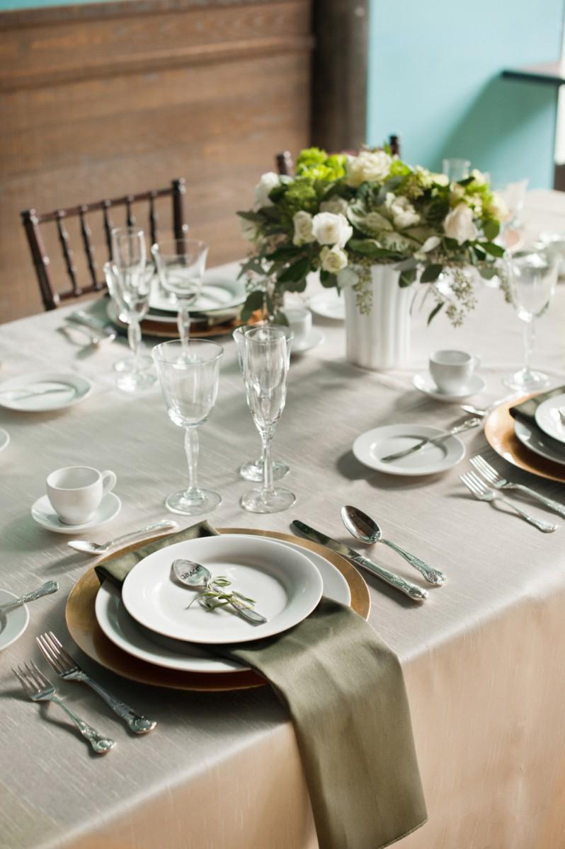 Ivory And Olive Green Wedding Reception Elizabeth Anne
