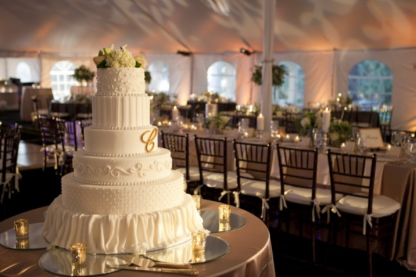 Tall White Tiered Wedding Cake   Elizabeth Anne Designs  The Wedding     Tall White Tiered Wedding Cake