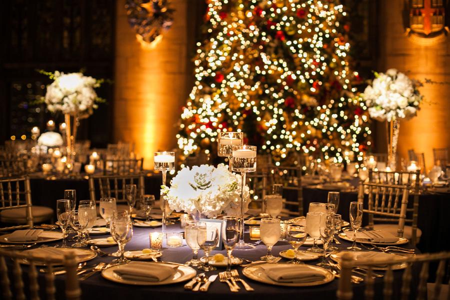 Christmas Wedding Reception