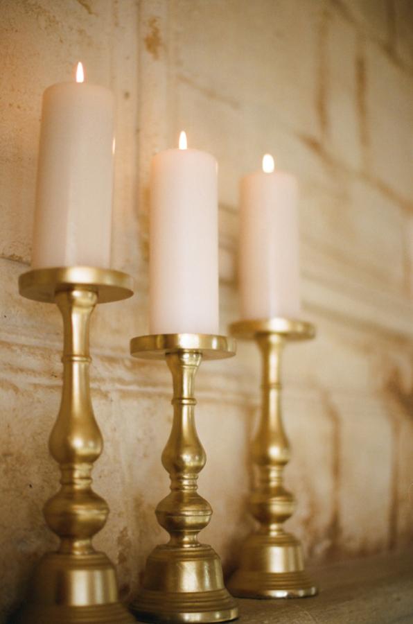 Gold Pillar Candle Holders Elizabeth Anne Designs The