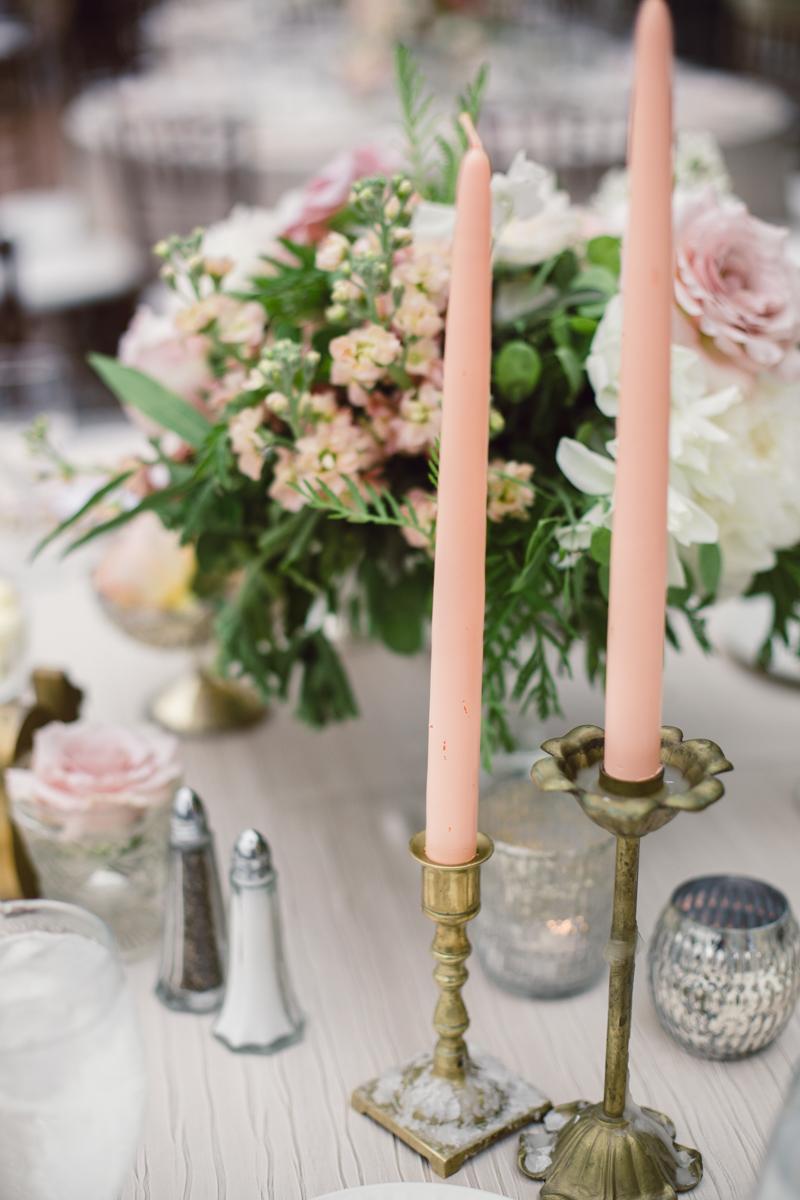 Pink Taper Candles Elizabeth Anne Designs The Wedding Blog