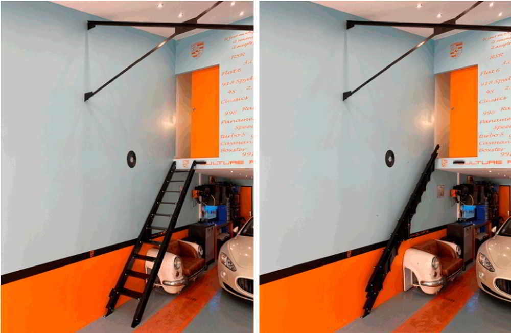 6 Awesome Folding Stairs Ideas Elizabeth Martin Interior Design | Zev Bianchi Stairs Price | Steps | Attic Stairs | Furniture | Tiny House | Bcompact Hybrid Stairs