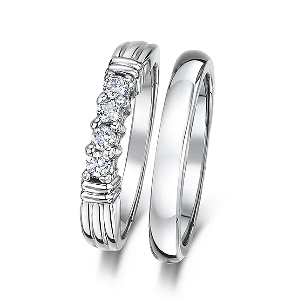 Cobalt 3mm Engagement Eternity Amp Wedding Band Bridal Set Rings Bridal Ring Sets At Elma Uk