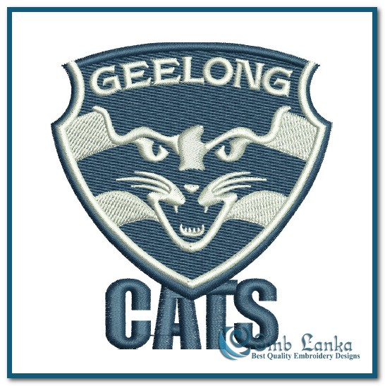 Geelong Football Club Logo Embroidery Design Emblanka Com