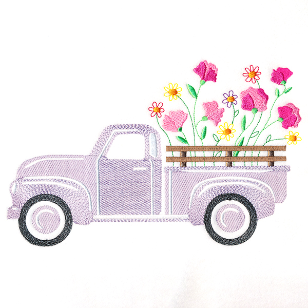 sweet pea embroidery # 78