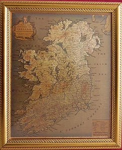 Old Maps of Ireland   Framed 19th Century Old Map of Ireland Framed 19th Century Old Map of Ireland