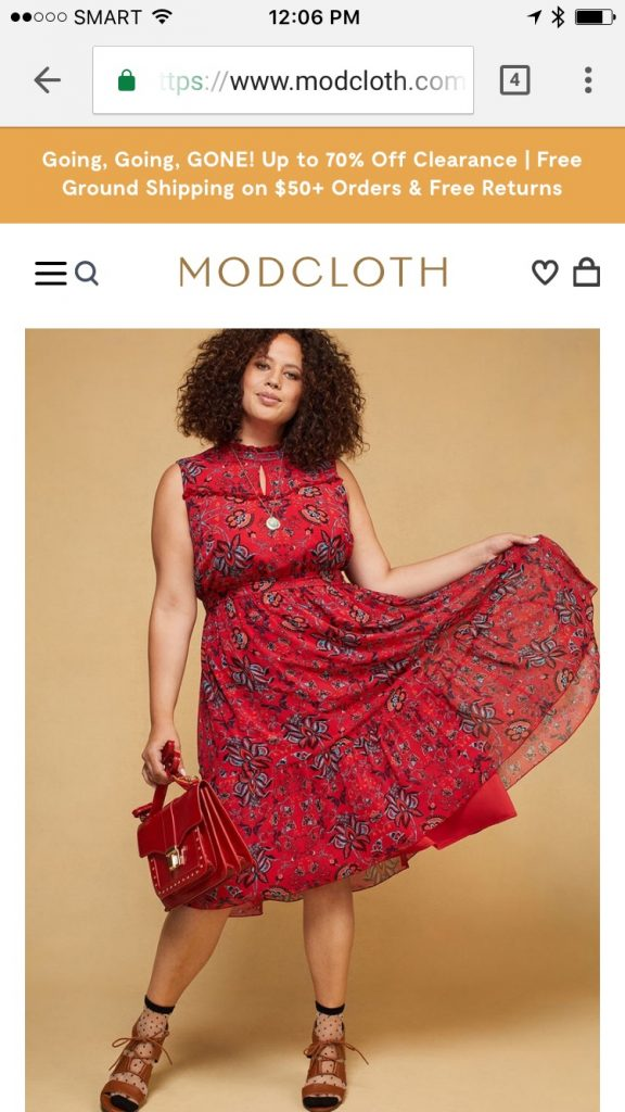Modcloth Mobile Responsive Website