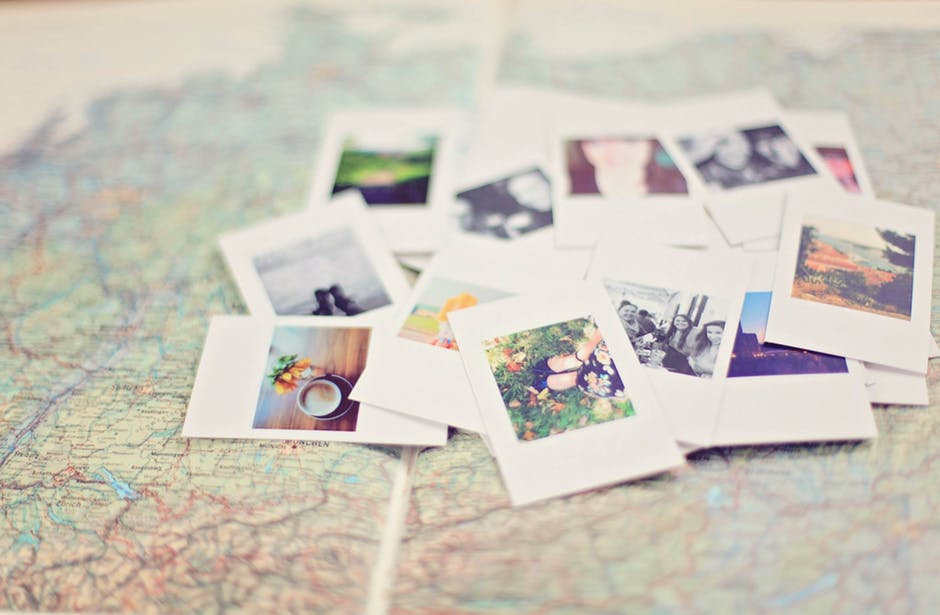 Polaroid Film and World Map