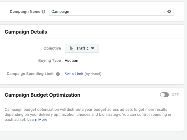 facebook campaign objective ads