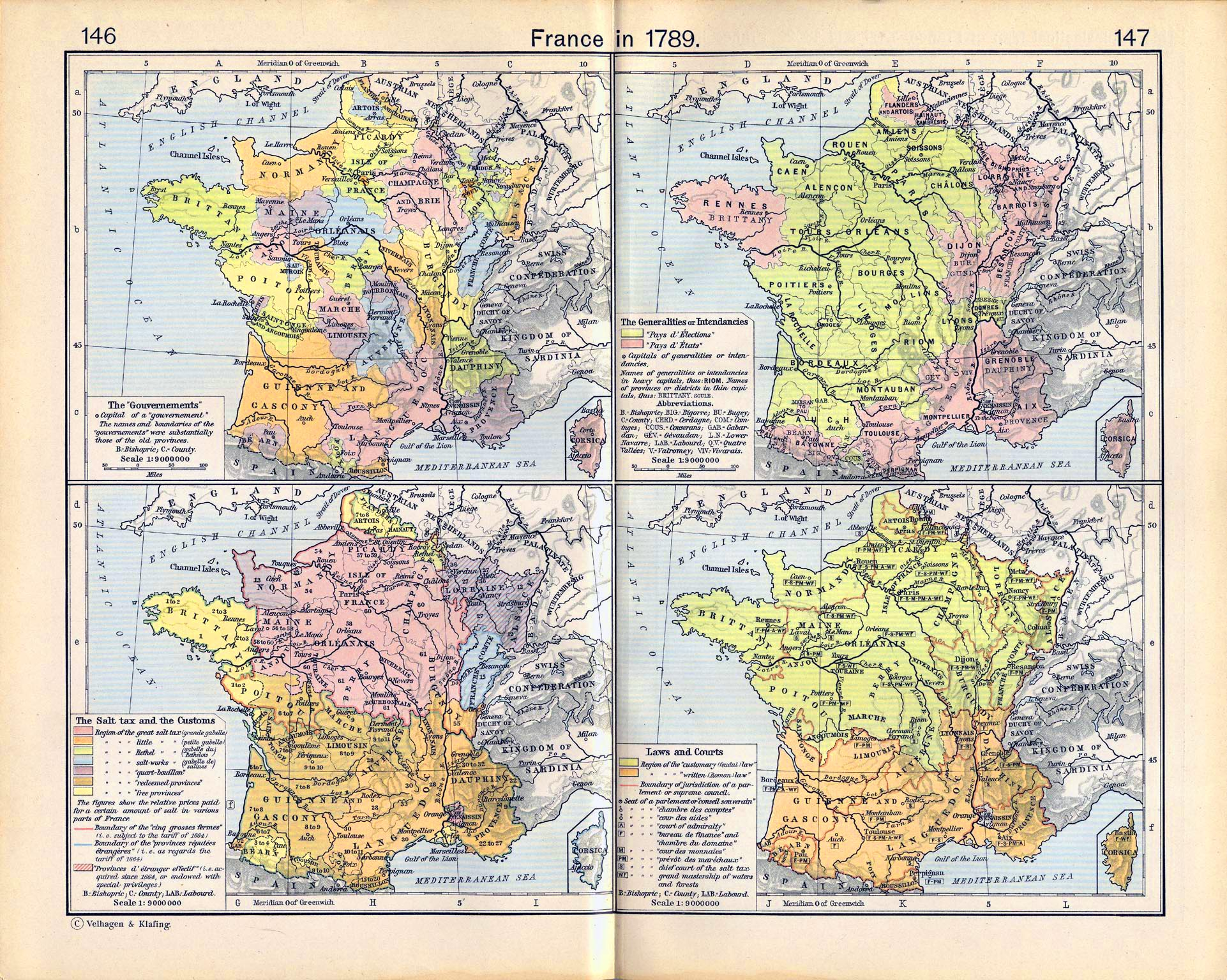 Map of France in 1789 Map of France in 1789  The  Gouvernements   The Generalities or  Intendancies