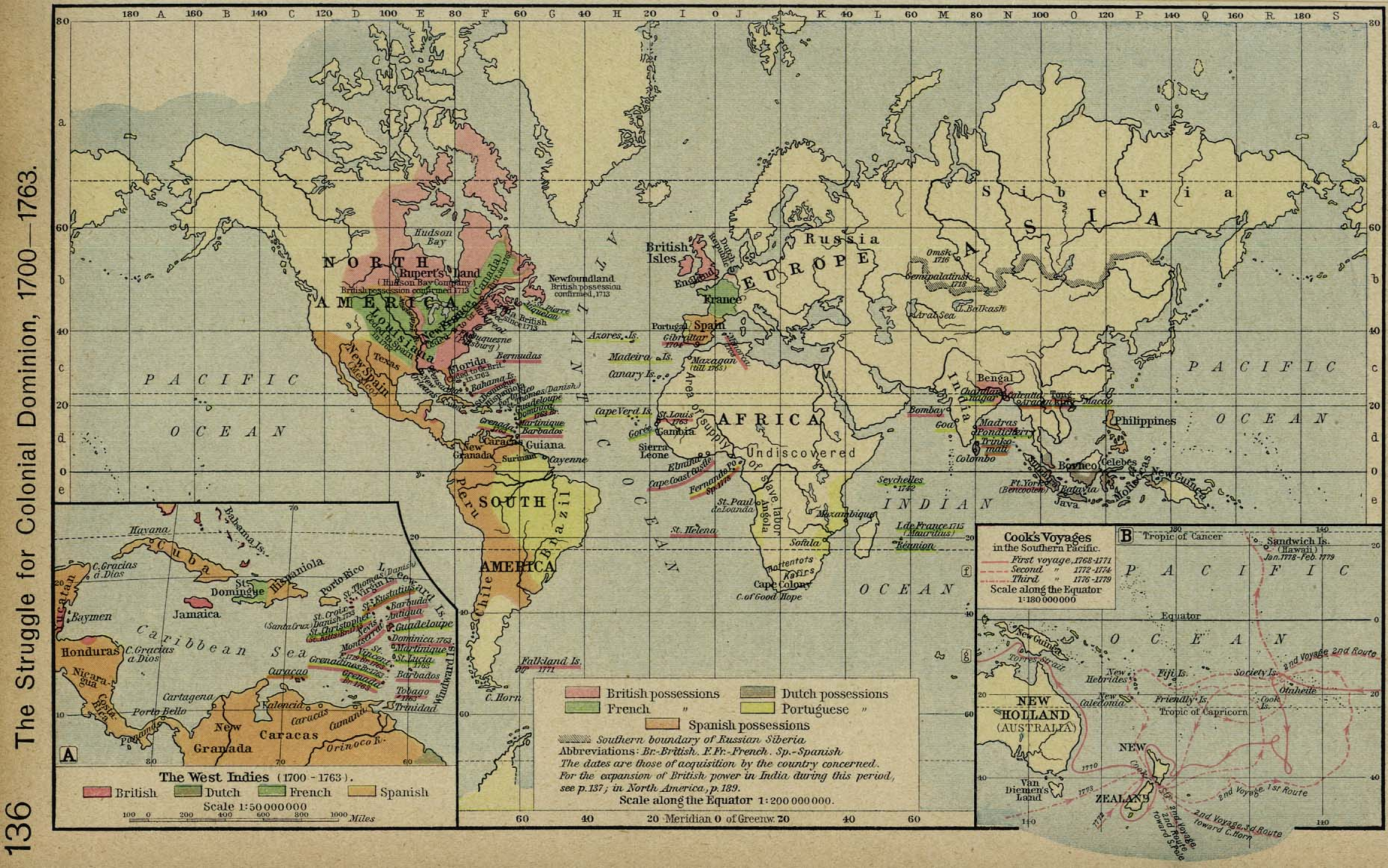 World Map 1700 1763  Colonies World Map 1700   1763  Colonies