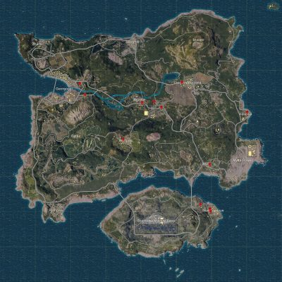 PLAYERUNKNOWN'S BATTLEGROUNDS Map of All Garages with Car ...