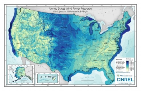 How NREL Puts Clean Energy on the Map   Department of Energy United States Wind Power Resource