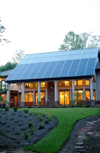Passive Solar Home Design   Department of Energy This North Carolina home gets most of its space heating from the passive  solar design  but the solar thermal system  top of roof  supplies both  domestic hot