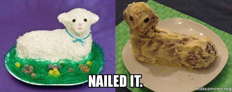 Easter Cake Nailed It