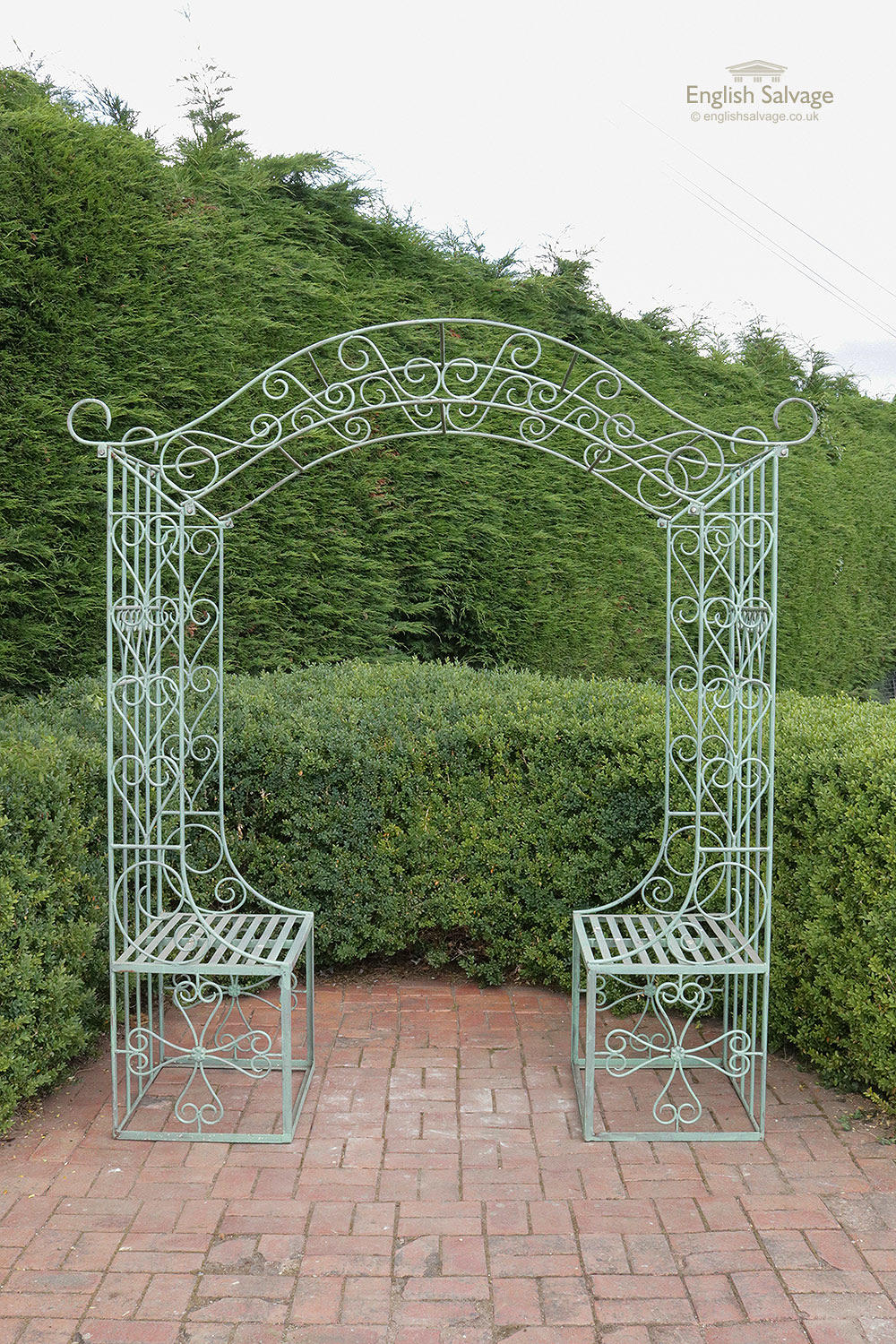 Large Iron Garden Arch And Seats