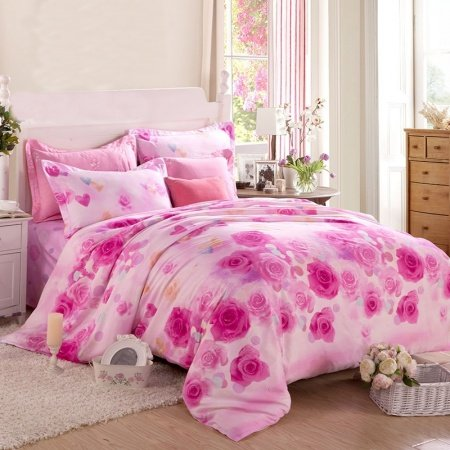 Hot Pink And Pale Pink Victorian Rose Cute Girly Themed