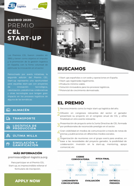 • Brochure / resumen del Premio CEL Start-up