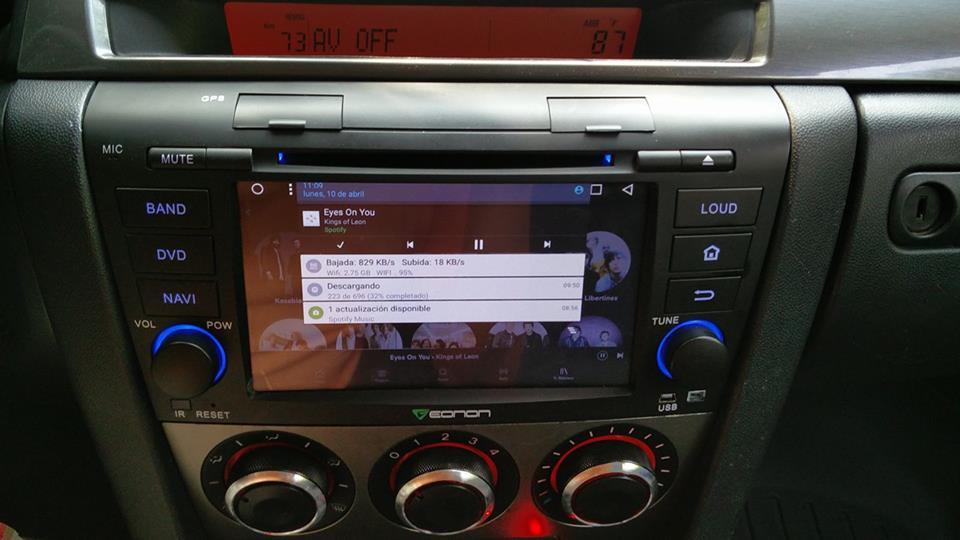 Flip Down Screen Car Stereo